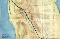 Free Hand Drawing of Map: Burma – Thailand Railway Camps