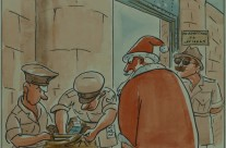 'Santa Search – Is Nothing Sacred?' – Calendar Illustration – December 1946