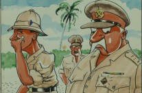 'Officers' – Calendar Illustration – January 1946