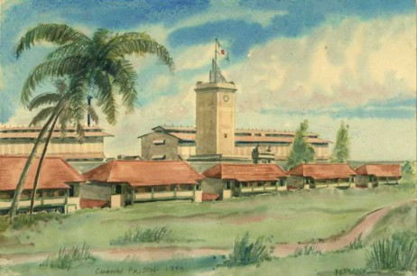 Changi Prison Main Buildings  (1944)