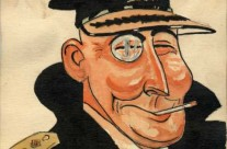 Caricature of an Naval Officer Wearing a Monocle, Kuantan, Malaya (1941)