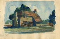 Country Farmhouse: English Countryside (painted in Changi)