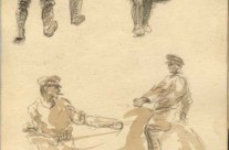 WW1 Sketches Of A Number Of Uniformed Personnel, Towner Road POW Camp, Singapore (July 1942)