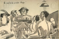 'He Used To Be A Valet, Sarge' Serving Up A Round for 25 Pounder (1945)