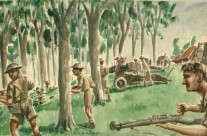 The Allies Engage The Japanese With Artillery And Small Arms Fire At Kuantan, Malaya (Dec 1941)