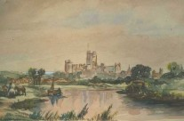 Castle Beyond River: English Countryside