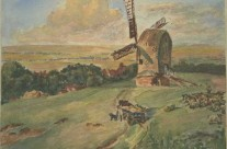 Farm Windmill: English Countryside