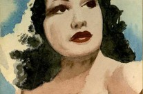Possibly film star Susan Hayward or Betty Lamour?  Painted Singapore (1943)