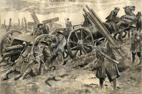 WW1 Flanders Mud – Pen & Ink