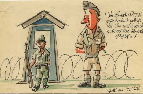 'The British POW Guard, Which Guards The Jap Guard, Which Guards The British POW's! Towner Road POW Camp (1942) '