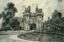 Gateway, Lancaster Castle (drawn in Changi April 1942)