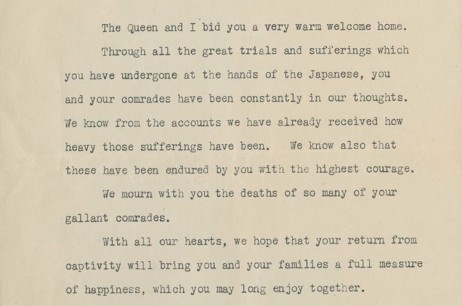 King George Letter – (Sept 1945)