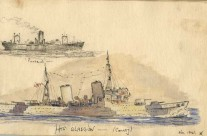 Convoy: 'SS Perseus' & 'HMS Glasgow' at Colombo (Nov 1941)
