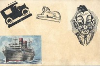 Car, Sphinx, Caricature, Ship