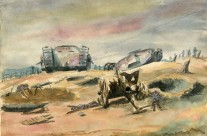 WW1 Tanks & Aftermath On Battlefield