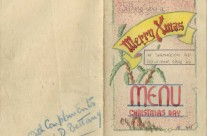 'Christmas Greeting Card And Menu' at Serangoon Road, P.O.W Camp, Singapore (Dec 1942)