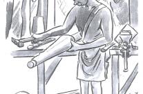 'Shaping The Bucket' – Limb Factory Changi (1945)