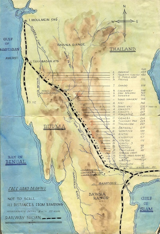 Burma Railway map