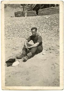 Young Des Bettany at the Beach