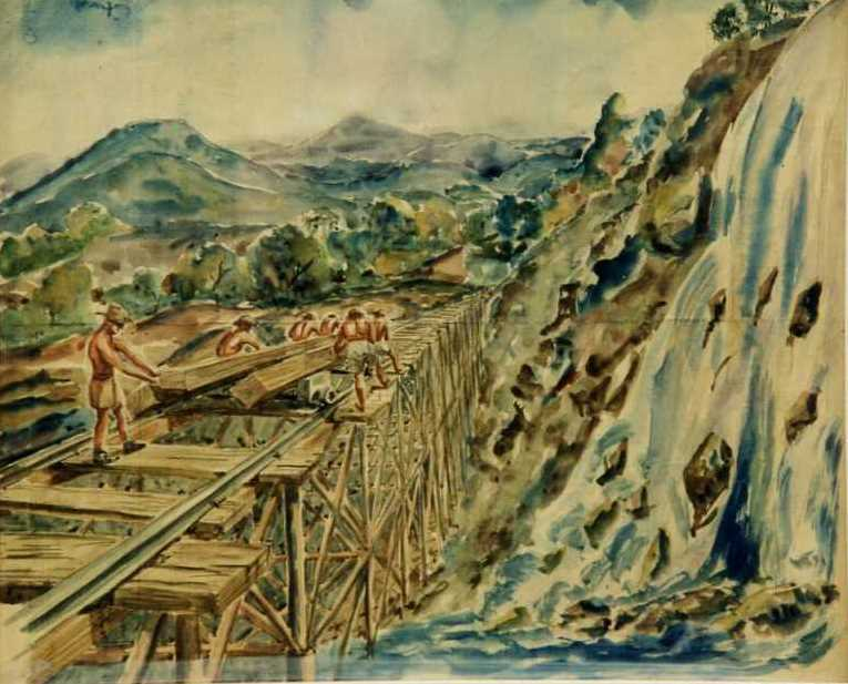 Building The Thai - Burma Rail Construction